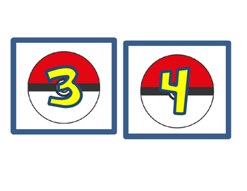 Pokemon Floor Markers for Lining Up