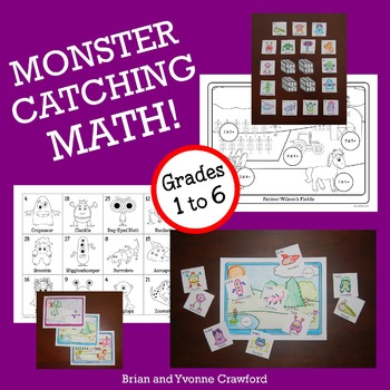 Pokemon GO Inspired Monster Catching Math Bundle 1st grade through 6th grade