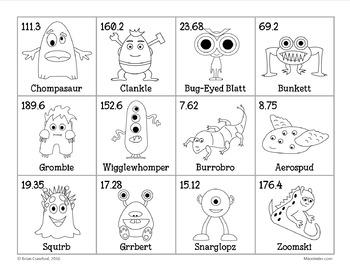 Pokemon GO Inspired Monster Catching Math for Fifth Grade
