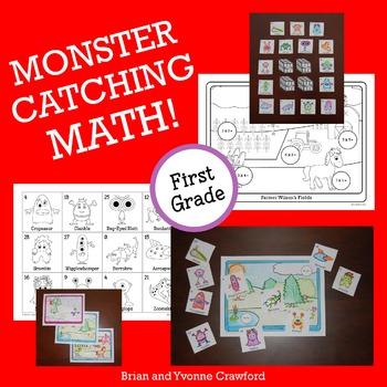 Pokemon GO Inspired Monster Catching Math for First Grade