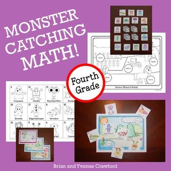 Pokemon GO Inspired Monster Catching Math for Fourth Grade