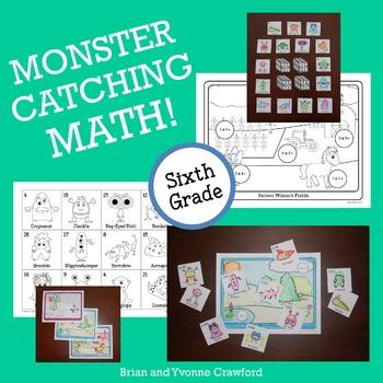 Pokemon GO Inspired Monster Catching Math for Sixth Grade