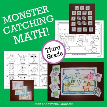 Pokemon GO Inspired Monster Catching Math for Third Grade