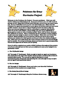 Pokémon Go 3rd through 5th Grade Cross Curricular Project
