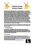 Pokémon Go 6th through 8th Grade Cross Curricular Project