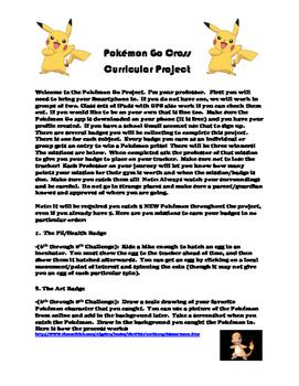 Pokémon Go 6th through 8th Grade Cross Curricular Project