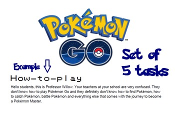 Pokemon Go Activity Pack