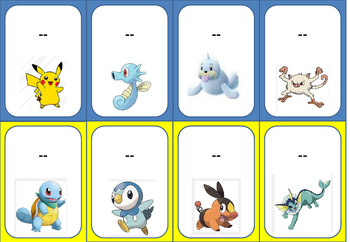 "Pokémon Go ""Catch"" a Pokémon + help it ""Evolve"" into a word!-Editable Template"