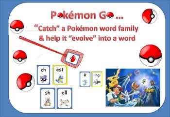 """Pokémon Go """"Catch"""" a Pokémon word family and help it """"Evol"""
