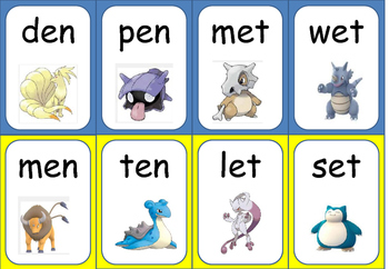 Pokémon Go! Catch the Rhyming Words- Short E