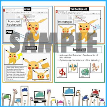 Google Drive Pokemon Drawing using Shapes in Google Drawings Pikachu