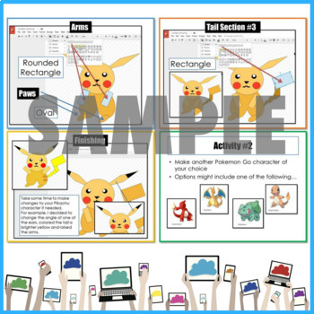 Google Drive Pokemon Drawing using Shapes in Google Drawings Pikachu
