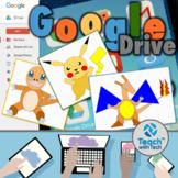 Pokemon Drawings using Shapes in Google Drawings BUNDLE