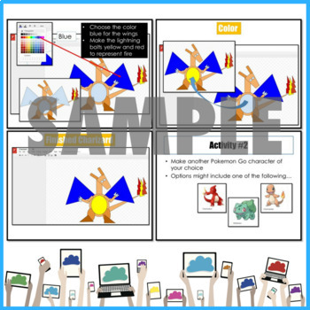 Video Game Character #3 Drawing using Shapes in Google Drawings