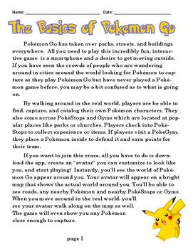 Pokemon Go ELA Unit Reading CCSS, Dozens of Standards - High Interest - No Prep