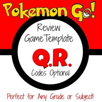 Pokemon Go - Game Template with optional QR Codes by Mathematic Fanatic
