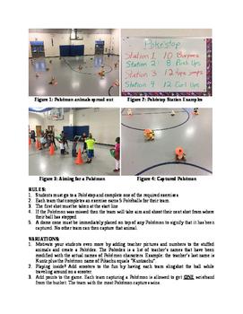 Pokémon Go Get 'em Cooperative-Slingshot Game for Physical Education