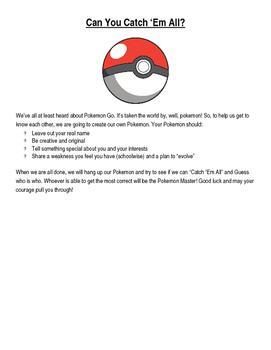 Pokemon Go! Getting to Know You!