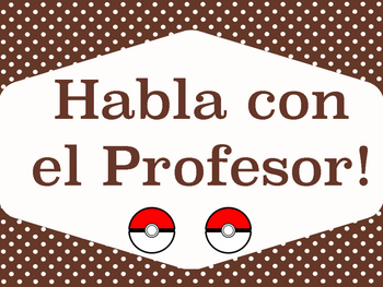 Pokemon Go Inspired Behavior Chart {Spanish}
