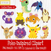 Poke-Inspired Clipart: Collection 1