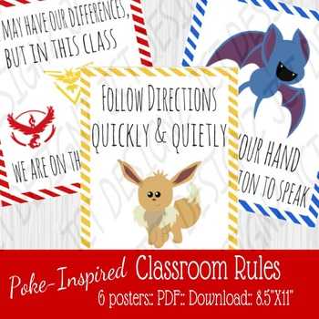 Poke-Inspired Classroom Rules