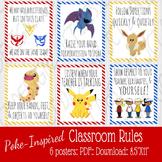 Poke-Inspired Classroom Rules