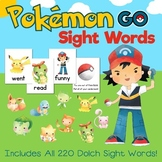 Pokemon Go Inspired Dolch Sight Words Game - Contains all