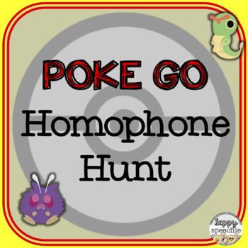 Poke Go Inspired Homophone Hunt
