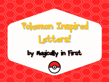 Pokemon Go Inspired Letters!