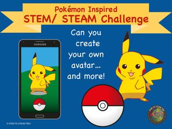 Pokémon Go Inspired STEM / STEAM Activity:  Create Your Ow
