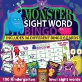 Kindergarten Sight Word Bingo Game (36 unique game boards)