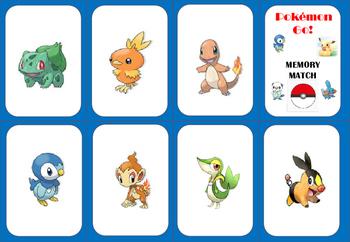 Pokémon Go ! Memory Match Game