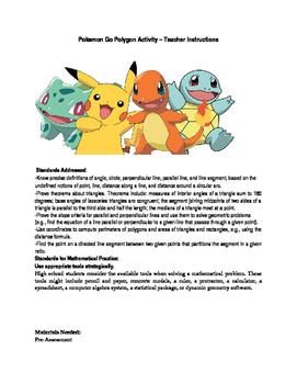 pokemon go polygon activity by lucia poole teachers pay teachers