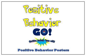 Pokemon Go Positive Behavior Posters