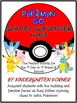 Pokemon Go School Scavenger Hunt - Beginning of the Year
