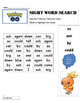 Pokémon Go ! Sight Word Search  Dolch Grade 1 Words