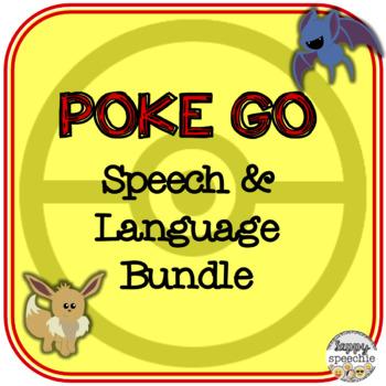Poke Go Inspired Speech & Language Bundle