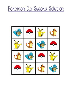 Pokemon Go Sudoku 4x4