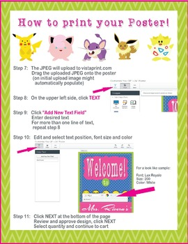 POKEMON GO Theme - EDITABLE Welcome Poster - 18 x 24