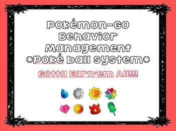 Pokemon-Go Themed Daily Management Plan- Pokeball System