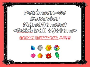 Pokemon-Go Themed Daily Management Plan- Pokeball System