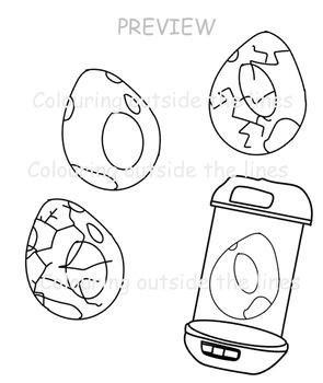 Pokemon Go! Inspired Eggs Clip Art