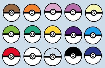 Pokemon Go Themed Pokeballs Clip Art