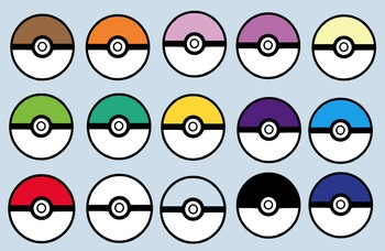 Pokemon Go Themed Pokeballs Clip Art