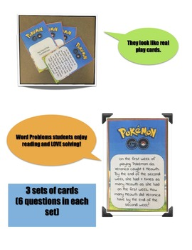 Pokemon Go - Multiplicative Comparison Word Problems