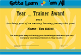 Pokemon Go Trainer Award - End of Year