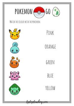 Pokemon Go Worksheet
