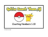 Pokemon Gotta Count Them All File Folder Activity Counting