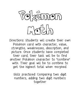 Pokemon Inspired Math