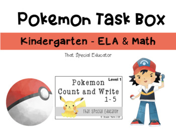Pokemon Kindergarten Task Boxes